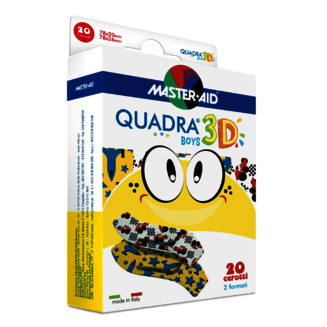 Image of the pack QUADRA® 3D BOYS plasters - with racing cars and jet